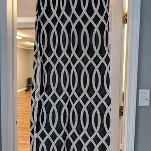 Black and White Curtains Grommet Top